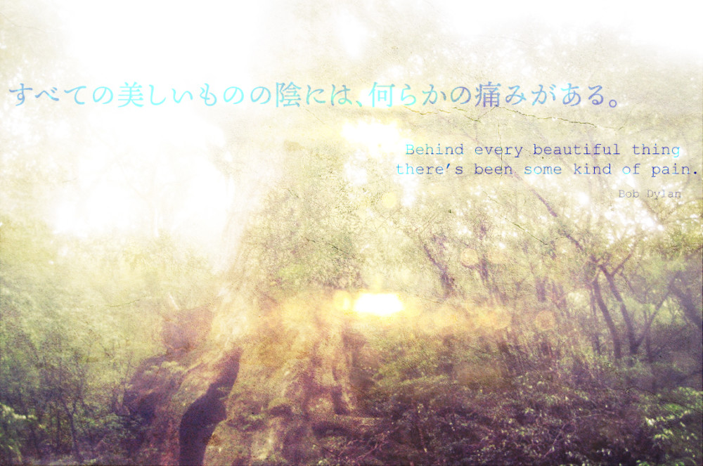 Behind every beautiful thing Quote photo
