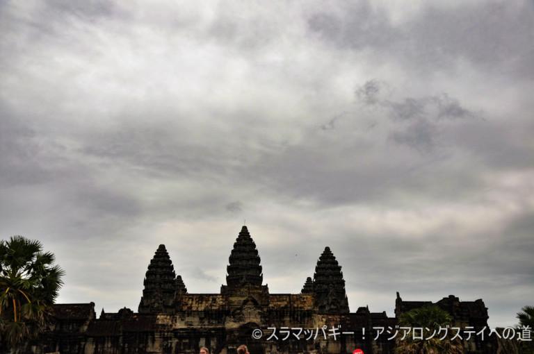Angkor Wat at the peak of the rainy season