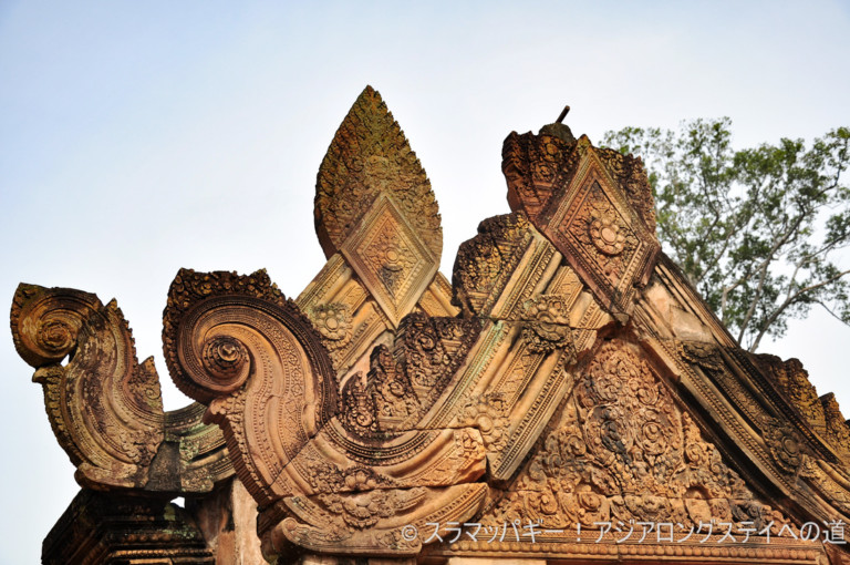 Banteay Srei, the highest peak of Cambodian art.